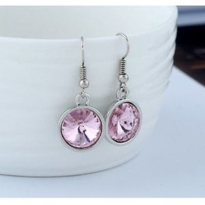 Jewelry - Pink Rhinestone Earrings